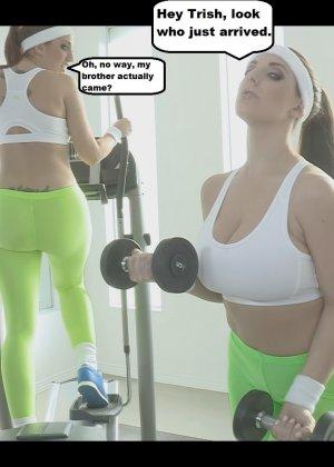 Посмотрите, что делают девушки на тренировке