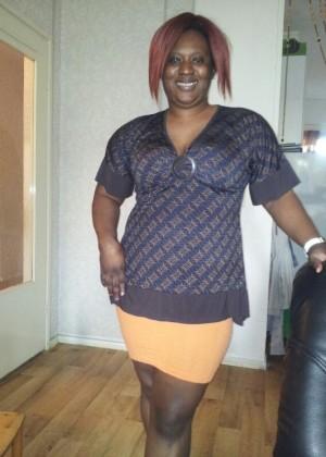 Джуана из Ганы показала жирную сиську