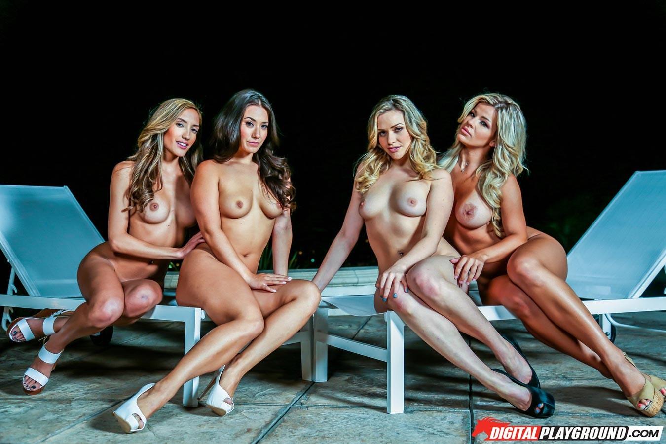 Четыре стройные лесби
