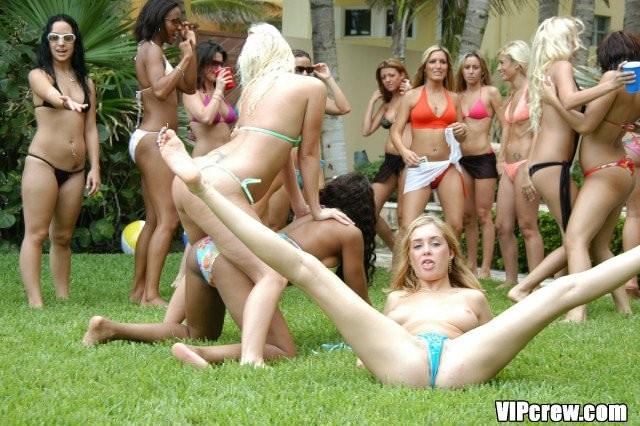 Девушки устраивают шикарную вечеринку, на которой все отдыхают, выпивают и иногда насаживаются на мужской член