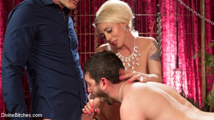 Лорелай Ли наказывает своего мужа страпоном и приглашает на секс вечеринку его лучшего друга с большим писюном