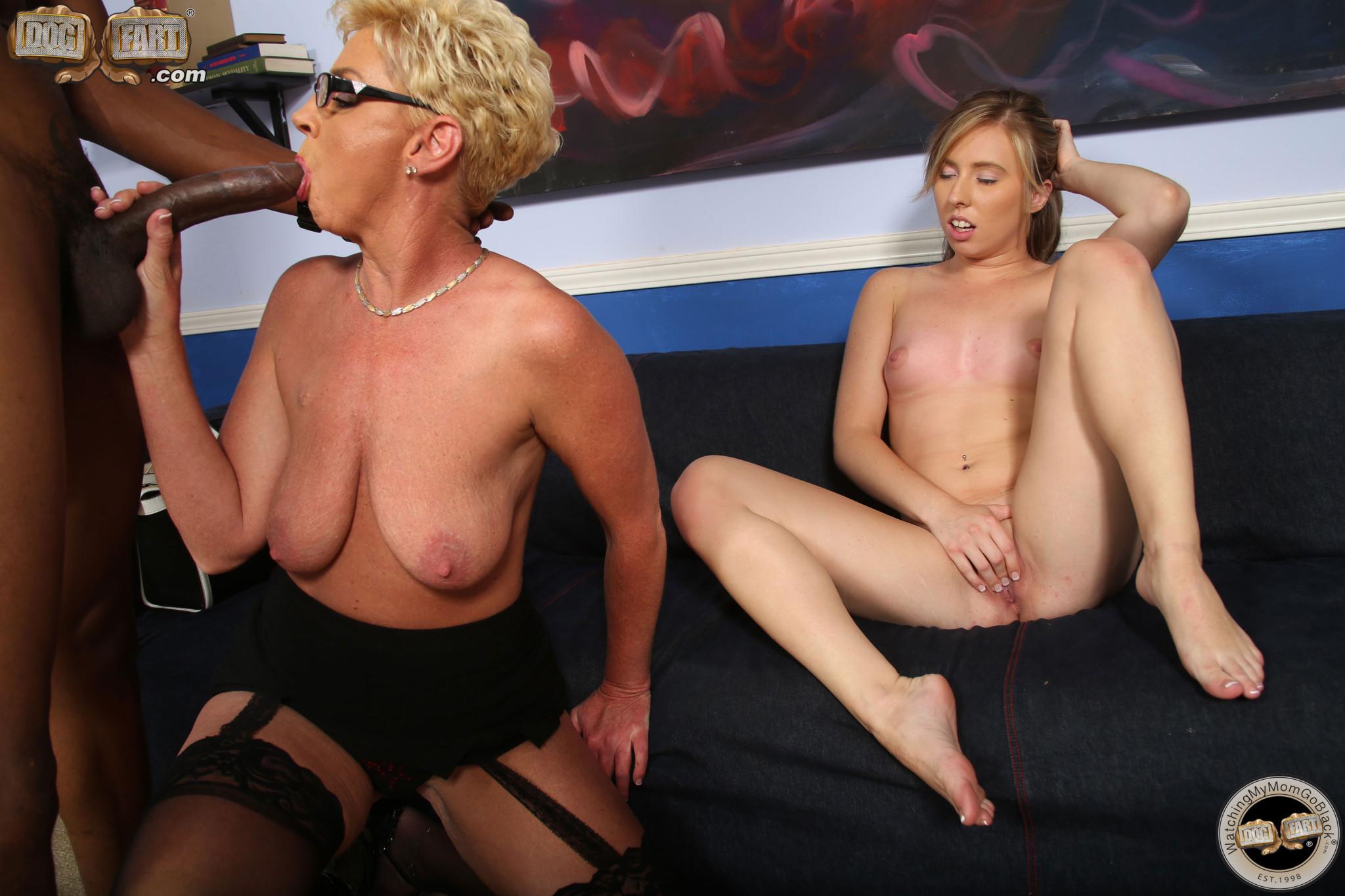 Линн Тейлор и Софи Катрер  подставляют свои пизденки под упор горячего черного хуя