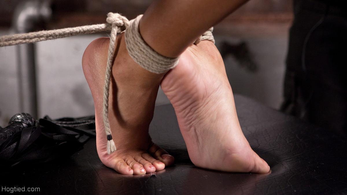 Дэйзи Дукати доходит до золотого дождя, при этом всё ее тело связано веревками