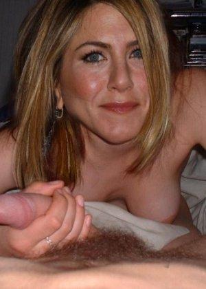Дженнифер Энистон тоже весьма похотливая штучка, ей очень нравится давать в задницу, и получать кончу в рот - фото 10
