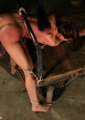 Марк Девис связывает Рейчел Старр в своем подвале, жестко шлепает ее задницу и ебет пизденку - фото 14