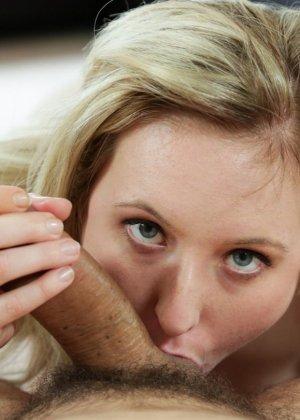 София Картер сосет темненький член с большим наслаждением и жаждет спермы - фото 7