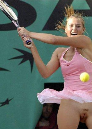 Горячие фото Марии Шараповой, где она не стесняется выходить на корт без трусиков - фото 8