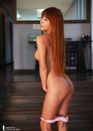Кореянка обладает идеальным телом, поэтому она так возбуждающе выглядит без одежды - фото 51