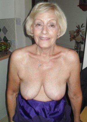 Подборка фото зрелых дам с висящими сиськами и не бритыми пездами - фото 4
