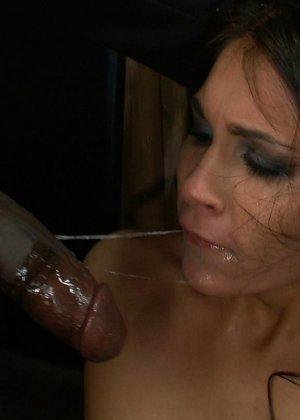 Отчаянная брюнетка соглашается на секс с несколькими мужчинами - ее дерут ее во все щели - фото 6