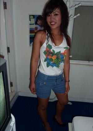 Пацан подцепил в клубе красивую сучку и хорошенько отымел её в квартире - фото 4
