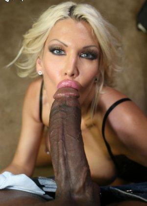 Блондинка делает растяжку, чтобы черный огромный хуй проник как можно глубже в ее розовую вагину, Мишель МакЛарен в межоассовом порно - фото 5