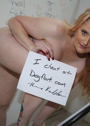 Толстенькая блондинка занимается сексом как она любит с натуральным негром - фото 15