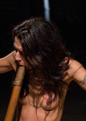 Озабоченные лесбиянки в связаном виде умудряются заниматься еблей - фото 19