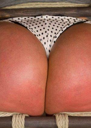 Жесткий мужик связав свою жену за измену издевается над ней вибратором - фото 10