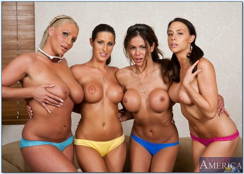 Четыре спортивные лесбиянки