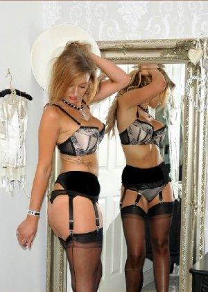 Эротические снимки шикарных женщин в красивом нижнем белье - фото 79