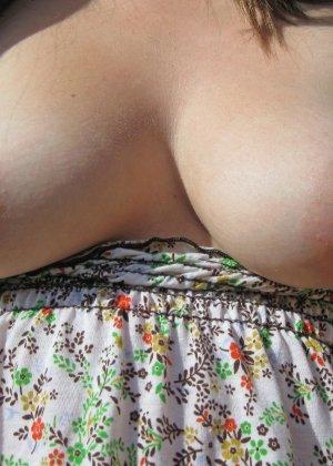 Бесстыдная деваха Кимберли делает порно селфи своих прелестей - фото 35