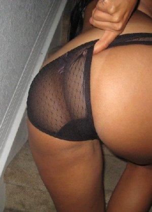 Латино-американка с огромной задницей любит показать ее везде - фото 17