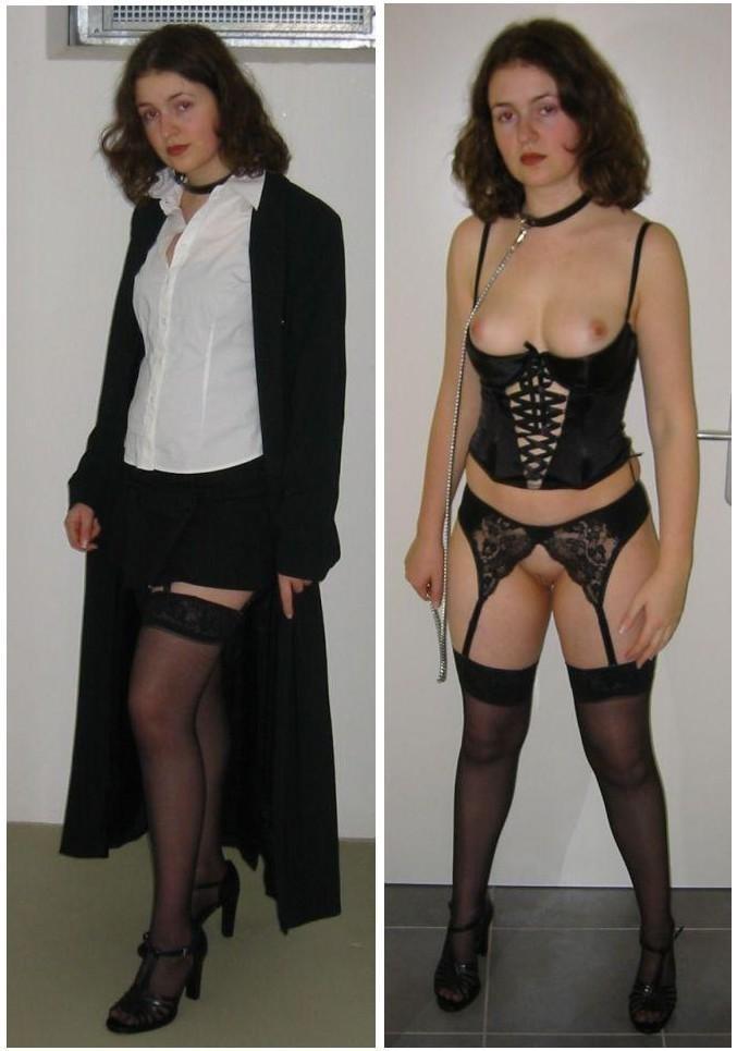Женщины, которые любят заниматься сексом в разных костюмах, показывают себя в действии