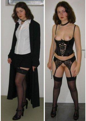 Женщины, которые любят заниматься сексом в разных костюмах, показывают себя в действии - фото 27