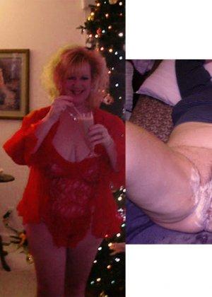 Зрелые пышечки встречают Новый год и упускают возможности показать себя без одежды перед всеми - фото 22