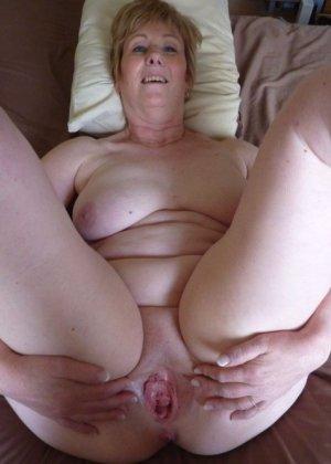 Жирная зрелая женщина показывает свое пышное тело всем желающим – кому-то может понравиться и такое - фото 26