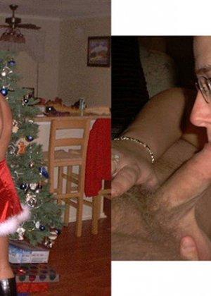 Рождественские телочки готовы ублажать своих партнеров, как только умеют, в предпраздничном настроении - фото 17