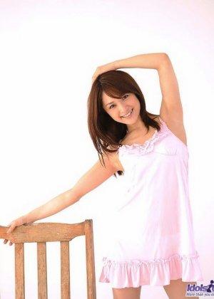 Японская девушка Михиро показала волосатый лобок - фото 7