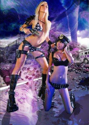 Красотка Дженифер на съемках фантастического порно фильма со своей подругой лесбиянкой - фото 9