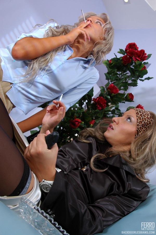 Зрелая женщина показывает молодой подруге все плюсы анального секса