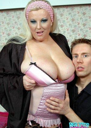 Ебля толстой зрелой блондинки - фото 1