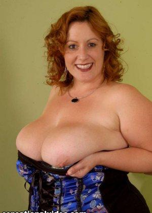 Секс с красивой толстой рыжей дамой Никки Карс - фото 2