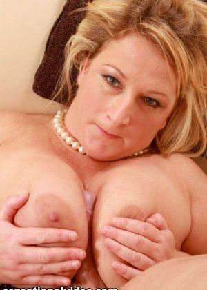 Толстая блондинка Либби любит заниматься сексом - фото 15