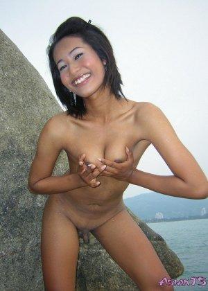 Реальный азиатский транс Сара в купальнике и без - фото 2