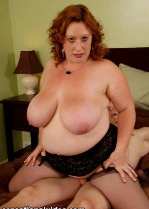 Секс с красивой толстой рыжей дамой Никки Карс - фото 14