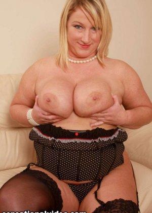 Толстая блондинка Либби любит заниматься сексом - фото 5