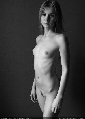 Голая телочка с плоской грудью - фото 5