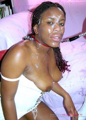Лесбийский секс втроем негритянок - фото 11