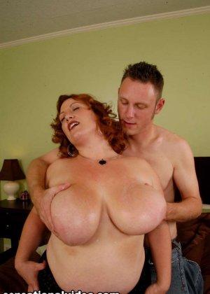 Секс с красивой толстой рыжей дамой Никки Карс - фото 8