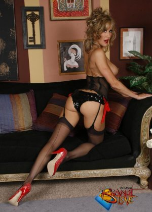 Бренди Лов в сексуальном нижнем белье - фото 16