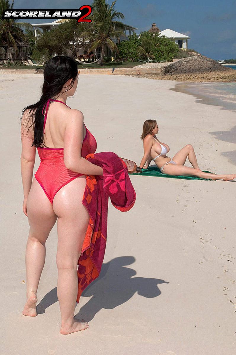 Пляж любительское лесби