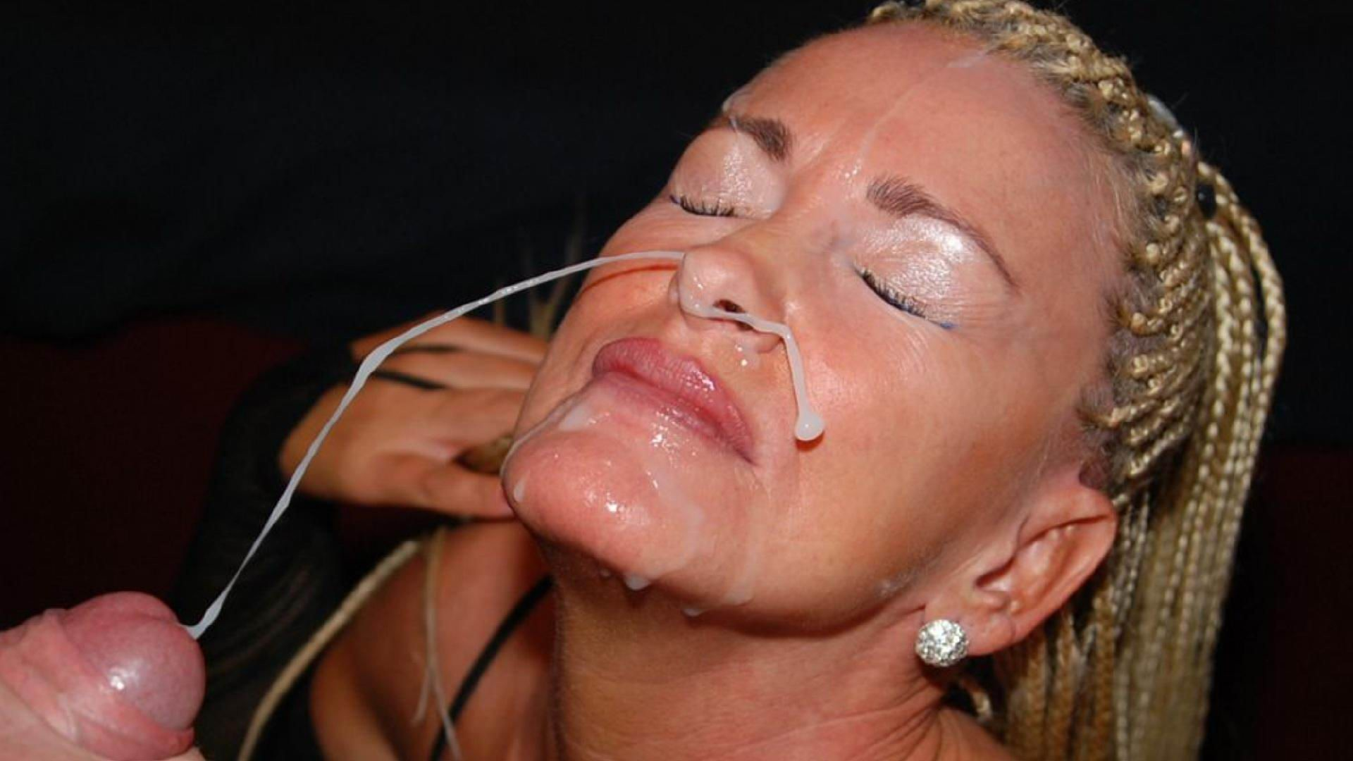 Сперма на лице, камшот подборка