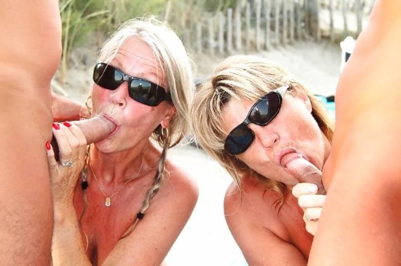 Гэнг Бэнг с женами на пляже