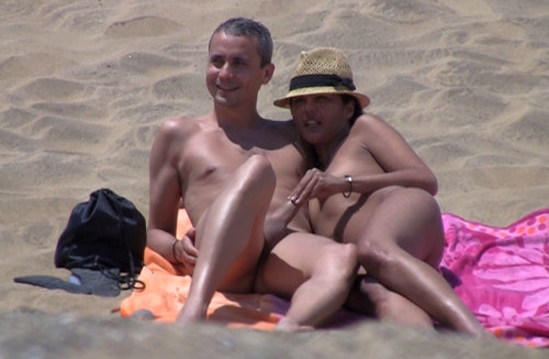 Секс на пляже - компиляция 1
