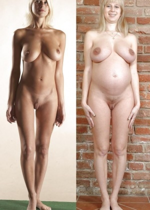 Pregnant tits before and after