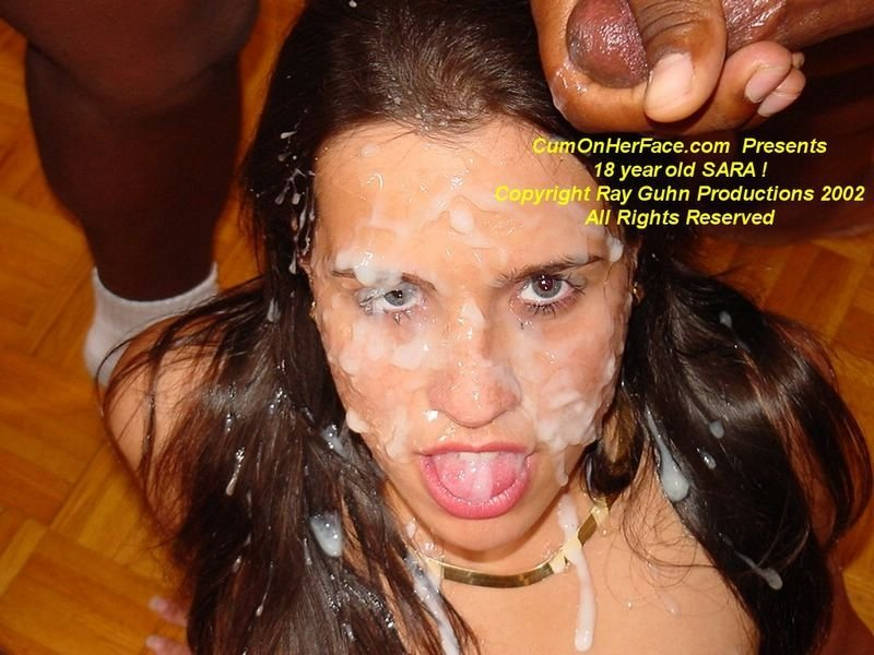 Cum on her face porn
