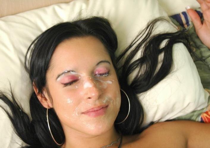 Спермой в глаз - Порно фото галерея 887145