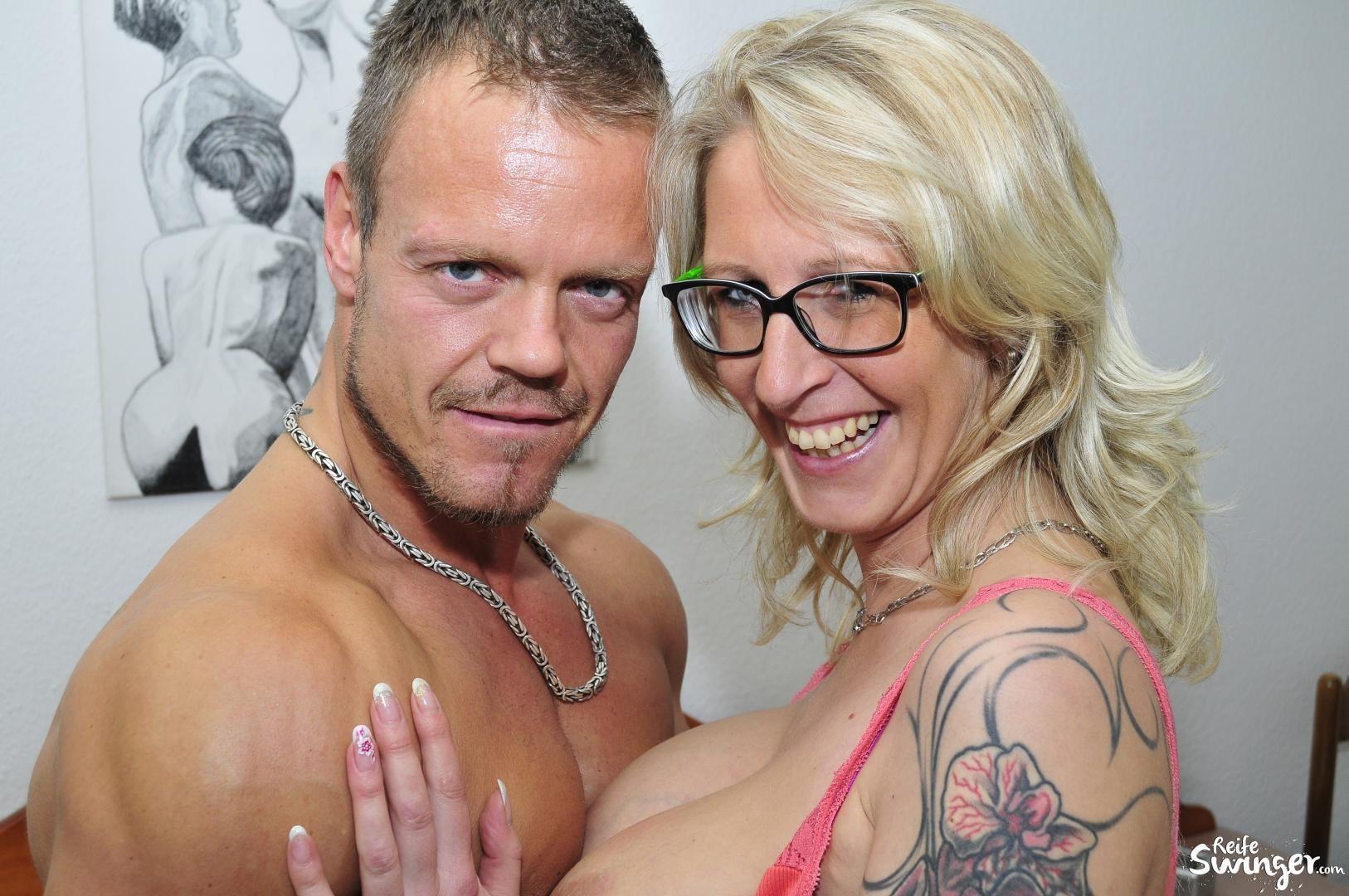 Секс с пожилой немецкой блядью