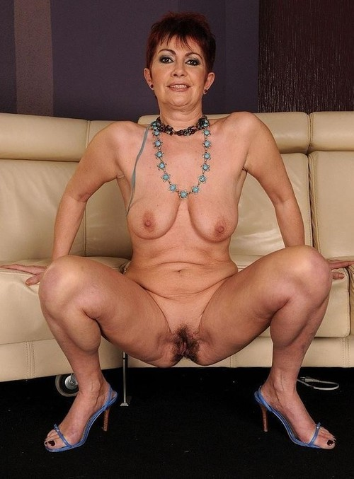 Hairy mature older woman